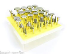 NEW 50pc 120 Grit Diamond Burr Bit Set for Dremel Rotary Tool Glass Tile Ceramic
