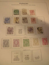 Sammlung Übersee Niederländische Antillen Curacao ca. 1873-1941 incl 7/15 (980)