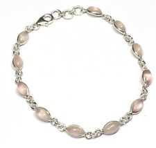 Handmade 925 Sterling Silver Bracelet With Marquise Pip Shape Rose Quartz Stones