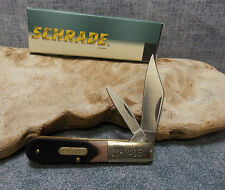 """SCHRADE OLD TIMER BARLOW STYLE 3 3/8"""" TWO BLADE FOLDING KNIFE 280OT NEW"""