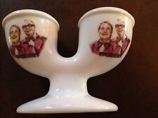MORECAMBE AND WISE CERAMIC DOUBLE EGGCUP egg cup BRING ME SUNSHINE