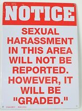 Sexual harrassment - tin sign PICTURE BAR DECOR