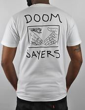 Doom Sayers Snake Hand Shake Skateboard Brand Pocket T-Shirt in Black & White