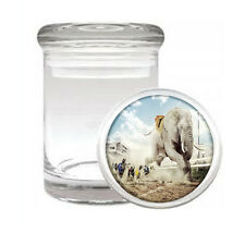 Elephant Art D35 ODORLESS AIR TIGHT MEDICAL GLASS JAR CONTAINER