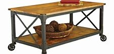 Rustic Coffee Table Industrial Country Reclaimed Vintage Wood Furniture Modern