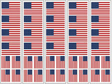 40 Stickers: United States Of America Flag, American US Party Favors, Decals