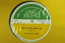 BBC 244 Transcription Disc TOP Of The POPS Led Zeppelin Deep Purple Jethro Tull