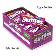 Skittles Full Box 55gx 36 Packets Wild Berry Retro Kids Sweets Fruit Chewy Candy