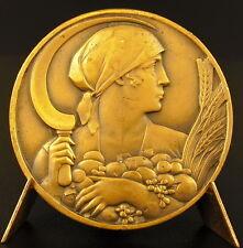 Médaille figure de la moisson les récoltes allegory of harvest sc Delannoy medal