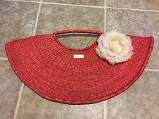 """Kua Hand Bag """"Keeping Us Authentic"""" Made In Africa Pink Weaved Large Hand Bag"""