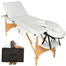 Table banc 3 zones lit de massage pliante cosmetique esthetique blanc + sac