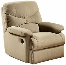 Acme Furniture 00626 Arcadia Recliner, Beige Microfiber NEW