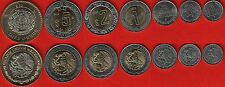 Mexico set of 7 coins: 10 centavos - 10 pesos 2011-2013 UNC