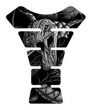 Venom Gray Snake Skull Motorcycle Gel Gas tank pad tankpad protector Decal