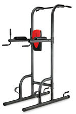 Weider Power Tower Exercidse Vertical Knee Raise Station Pull Push Up Dip Stand