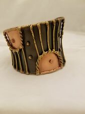 Handcrafted Stainless Steel/Brass/Copper Cuff Bracelet By Anju