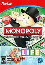 Monopoly and The Game of Life Pop Cap PC Game NEW