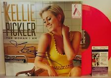 KELLIE PICKLER Signed Autograph LP Cover The Woman I Am Pink Vinyl Record JSA
