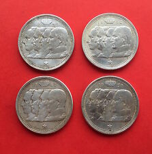 "100 FRANCS 1948 BELGIQUE "" QUATRE ROIS "" - LOT de 4 ANNEES DIFFERENTES en ARGENT"