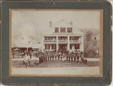 UNION HOUSE, GLOVER VERMONT,GLOVER BRASS BAND,PEOPLE,HORSE AND BUGGIES,CHILDREN