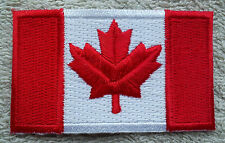 CANADA FLAG PATCH Embroidered Badge Iron or Sew on 4.5cm x 6cm Canadian Maple