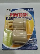 lot of 2 pcs Bulb Socket Adaptor Converter 110 Volts AC Plug to Screw Base Light