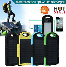 10000mAh Portable Waterproof Solar Charger 2 USB External Battery Power Bank lot