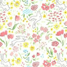 Michael Miller Sarah Jane Sommer Garden Bloom White Fabric
