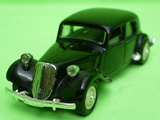 SOLIDO CITROEN 15 SIX 1939 TRACTION AVANT - BLACK 1:43 - VERY GOOD CONDITION