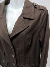 JUST JEANS Womens Brown Casual Jacket with Pretty Floral Lining - Sz 12