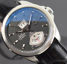 TAG HEUER GRAND CARRERA WAV5111 GMT   BOX/PAPERS /1 YR  GTEE 2014 YR EXCELLENT