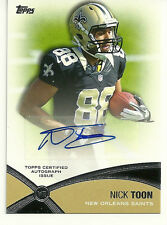 2012 TOPPS FOOTBALL - NICK TOON - PROLIFIC PLAYMAKERS AUTO - SAINTS - ROOKIE