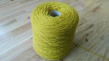 100% worsted spun wool. 950 gram cone in bright mustard.