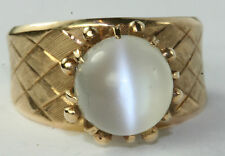 VINTAGE 1950'S 14K GOLD LARGE MOONSTONE RING SIZE 7.5