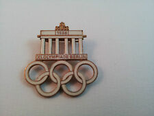 Badge 1936 Olympiade Berlin Jeux Olympiques Olympic Game Brandenburger Tor pin's