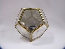 Mercury Glass Candle Holder Pentagonal Tealight Holder Small