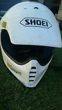 Vintage Shoei Motorcross Motorcycle Full Face Helmet White Medium Japan