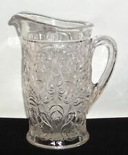 "McKee ROCK CRYSTAL CRYSTAL *8 1/2"" FANCY TANKARD PITCHER*AS IS*"