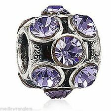 NEW EVERBLING BEAD Purple Austrian CRYSTAL April Birth Stone 925 Sterling SILVER