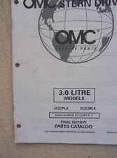 1997 OMC Stern Drive Boat Motor Parts Catalog 3.0 Litre 302CPLK 302CMLK   L