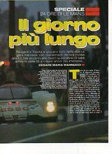 W17 Ritaglio Clipping 1993 Speciale 24 Ore di Le Mans Peugeot e Toyota