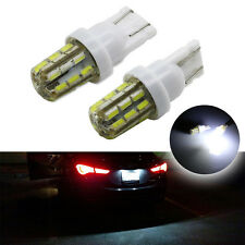 2Pcs Car Turn Signal Corner Bulb White Xenon 24-SMD T10 LED License Plate Light
