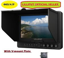 "LILLIPUT 7"" 665/S/P HD-SDI Peaking Focus HDMI In&Out Monitor+V-mount plate"