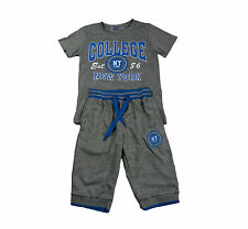 Summer Kids Boys Casual Short Sleeve T-shirts + Shorts Pant Outfit Clothes Set