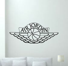 Air Jordan Logo Wall Decal Basketball Vinyl Sticker Art Poster Gym Decor 102nnn