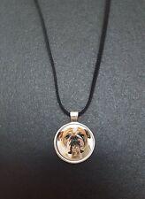 """Bulldog pendentif sur un 18"""" noir cord collier idéal anniversaire cadeau N74"""
