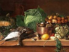 PAINTING STILL LIFE KHRUTSKY DEAD GAME VEGETABLES ART PRINT POSTER LF755