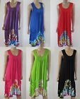 NEW Sleeveless Rayon Tie Dye Sun Medium Casual Dress (Gypsy Hippy/Boho) w Pocket