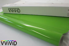Gloss Lime Green Vinyl Roll 5ftx2ft Air Release Tech Car Wrap Film Sheet LGGL3M