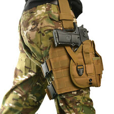 Tactical PALS MOLLE Modular Drop Down Thigh Leg Rig Platform with Pistol Holster